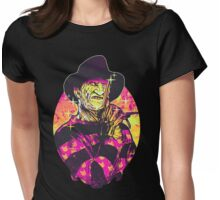Neon Horror: Freddy  Womens Fitted T-Shirt