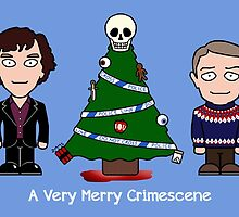 Sherlock Christmas card: Merry Crimescene by redscharlach