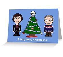 Sherlock Christmas card: Merry Crimescene Greeting Card