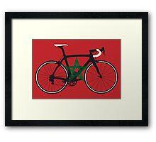 Bike Flag Morocco (Big - Highlight) Framed Print