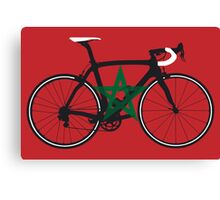 Bike Flag Morocco (Big - Highlight) Canvas Print