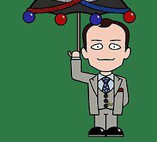Sherlock Christmas card: Mycroft's Brolly by redscharlach