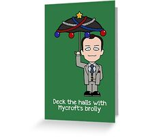 Sherlock Christmas card: Mycroft's Brolly Greeting Card