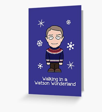 Sherlock Christmas card: Watson Wonderland Greeting Card