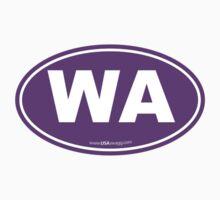 Washington State WA Euro Oval PURPLE by USAswagg2