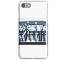 Letters on an old typewriter. iPhone Case/Skin