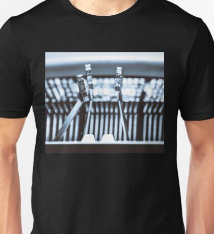 Letters on an old typewriter. Unisex T-Shirt