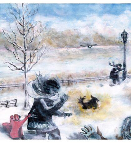 Snowdown in Quebec. Drama under foot. Sticker