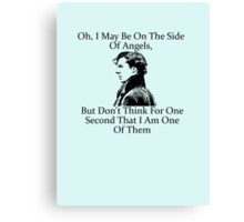 Sherlock Holmes, Benedict Cumberbatch, Side of Angels Quote Canvas Print
