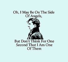 Sherlock Holmes, Benedict Cumberbatch, Side of Angels Quote by NerdGirlTees