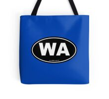Washington State WA Euro Oval  Tote Bag