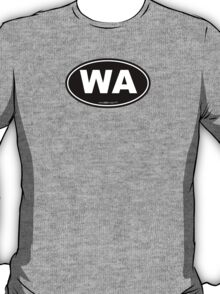 Washington State WA Euro Oval  T-Shirt