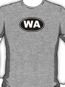 Washington State WA Euro Oval  T-Shirt