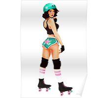 Roller Derby Pin Up Poster