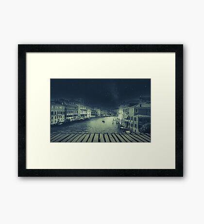 Fineart retro image Venice, Italy. Framed Print