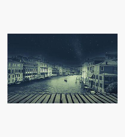 Fineart retro image Venice, Italy. Photographic Print