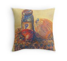 Pomegranate, Pepper, and Onion (pastel) Throw Pillow