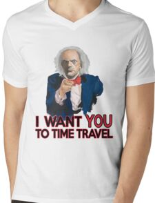 Doc Brown Wants You Mens V-Neck T-Shirt