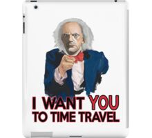 Doc Brown Wants You iPad Case/Skin