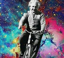 Albert Einstein fait du velo  by Injoy60