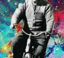 Albert Einstein fait du velo  Sticker