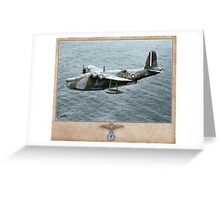Short Sunderland MK I Greeting Card