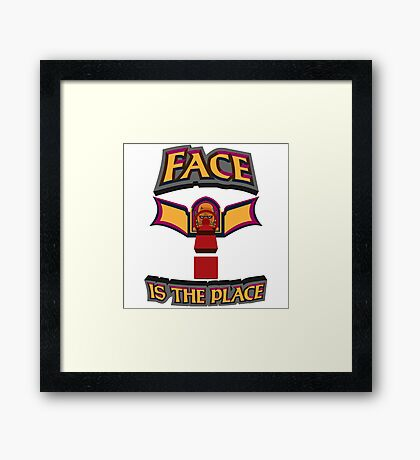 Face is the Place Framed Print