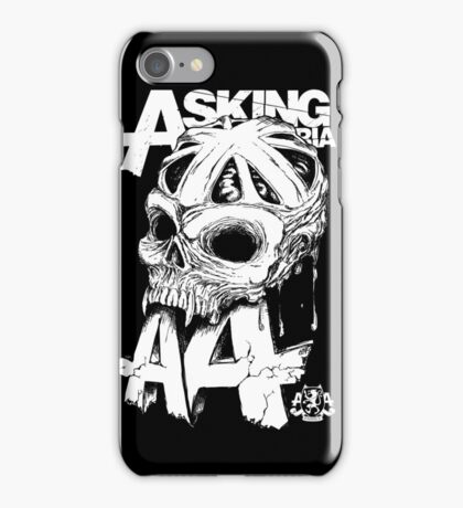 Asking Alexandria England Skull  tshirt and hoodie iPhone Case/Skin