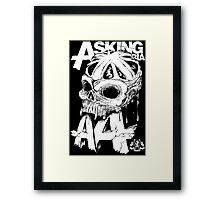 Asking Alexandria England Skull  tshirt and hoodie Framed Print