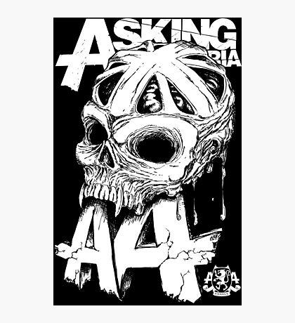 Asking Alexandria England Skull  tshirt and hoodie Photographic Print