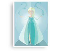 Symmetrical Princesses: Elsa Metal Print