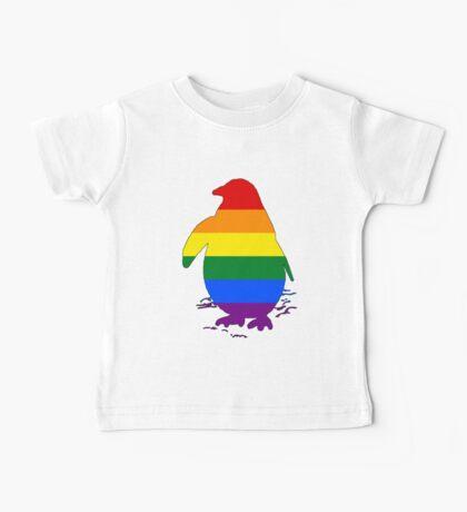 Rainbow Penguin Baby Tee