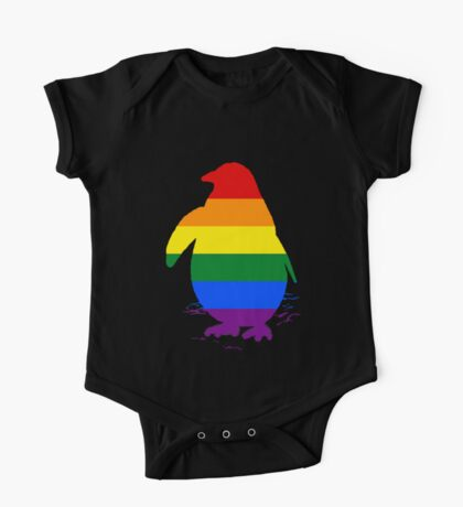 Rainbow Penguin One Piece - Short Sleeve