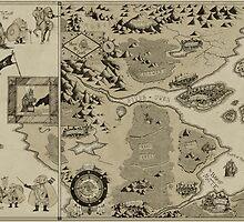Old Worldly Map by djrbennett