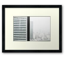 the business trip Framed Print