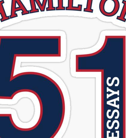Hamilton 51 Essays Jersey Sticker
