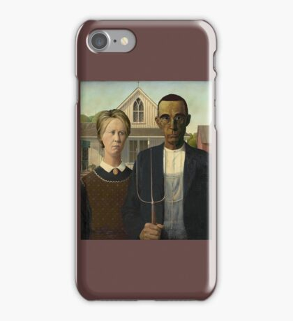 Barack Obama and Hillary Clinton Painting iPhone Case/Skin