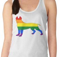 Rainbow Pitbull terrier Women's Tank Top