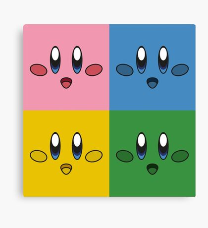 Kirby Pop Art Canvas Print