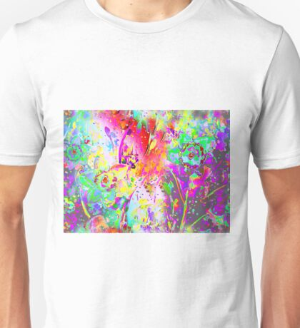 Watercolor Abstract Spring Flower Pattern Unisex T-Shirt