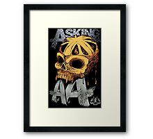 Asking Alexandria Colored England Skull  tshirt and hoodie Framed Print