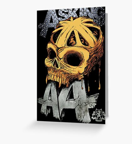Asking Alexandria Colored England Skull  tshirt and hoodie Greeting Card