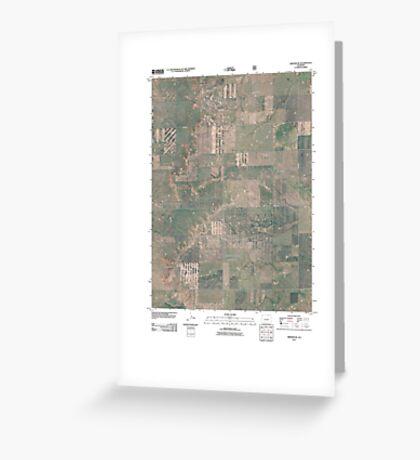 USGS TOPO Map Colorado CO Grover NE 20110114 TM Greeting Card