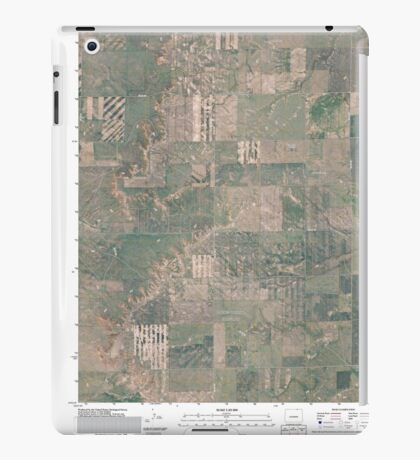 USGS TOPO Map Colorado CO Grover NE 20110114 TM iPad Case/Skin