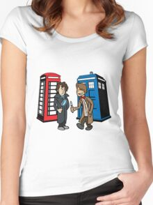 Doctor Who and Sherlock Women's Fitted Scoop T-Shirt