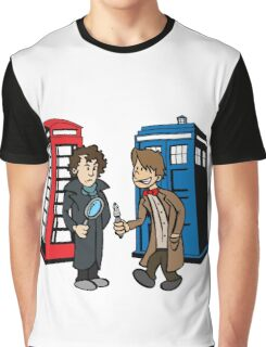 Doctor Who and Sherlock Graphic T-Shirt