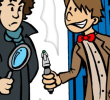 Doctor Who and Sherlock Sticker