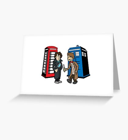 Doctor Who and Sherlock Greeting Card