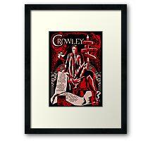 Crowley Woodcut Framed Print