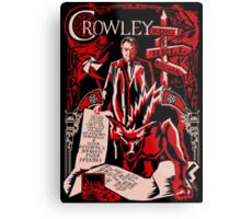 Crowley Woodcut Metal Print